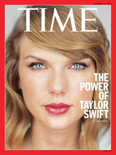 Swift on the cover of Time Magazine, November 2014